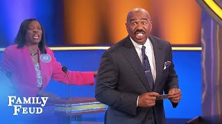 FUNNY CLIP!!! That ain't a CHICKEN! | Family Feud
