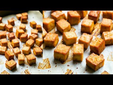 Crispy Baked Oil-Free Tofu Recipe / Two Ingredients!