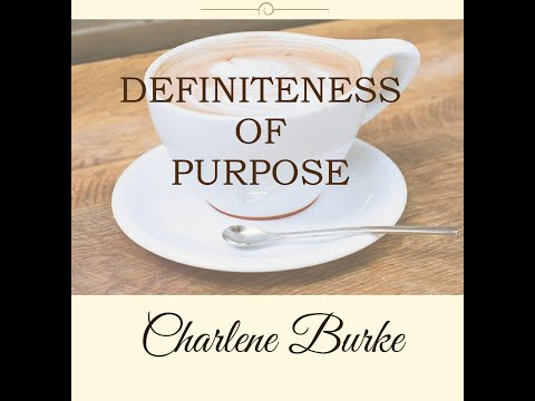 Morning Mindset Cafe: PMA Definiteness of Purpose #goalsetting #success