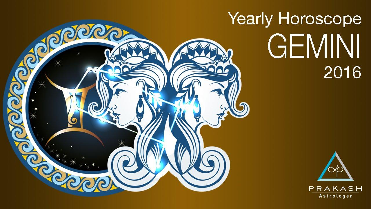 Gemini Yearly Horoscope 2016 In Hindi Dynamics Prakash Astrologer Youtube