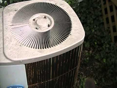 1989 Carrier Air Conditioner Starting Up Youtube