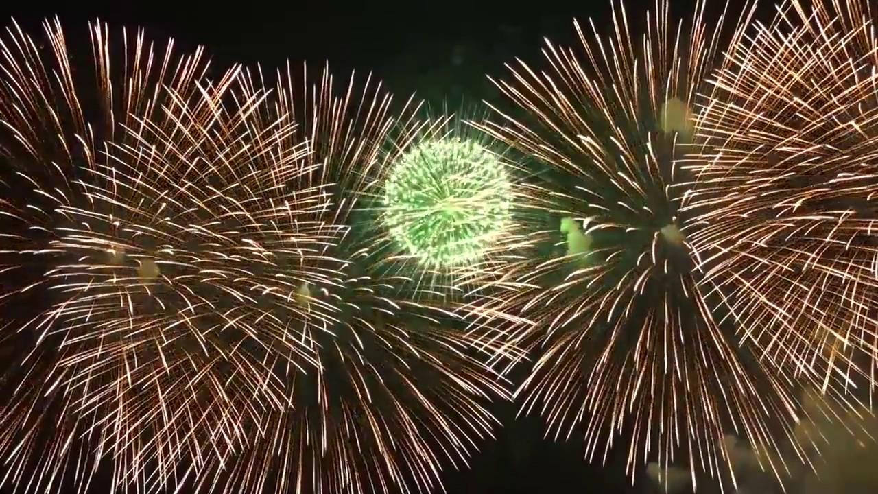 Новогодний фейерверк в Токио, Япония 2017. Allvideo.
