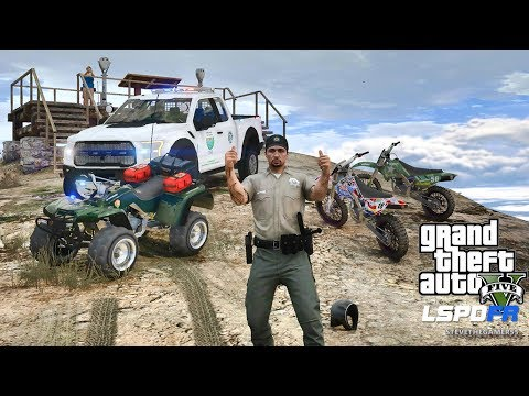 LSPDFR #489 PARK RANGER PATROL!! (GTA 5 REAL LIFE POLICE PC MOD) ATV
