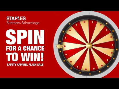 Spin to win! Staples Safety apparel flash sale!