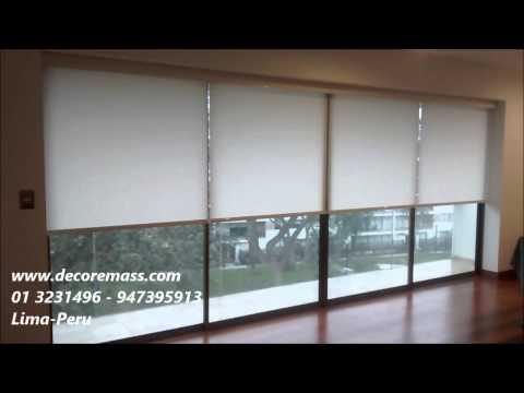 07 cortinas rollers duo motorizadas en lima peru cort - Persianas antiruido ...