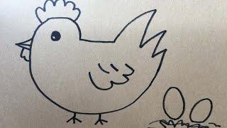 學畫畫 教你畫公雞和雞蛋 小朋友學畫畫 一步步教學