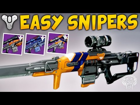 Destiny: EASIEST WAY TO GET A GOOD SNIPER! Best Sniper Farming Method & My Perk Rolls