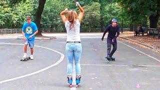 Скейт или ролики - Битва Колес