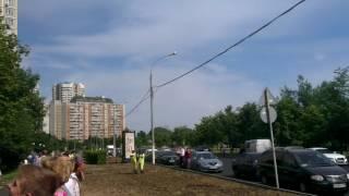 Тушение пожара в Москве 28 06 16
