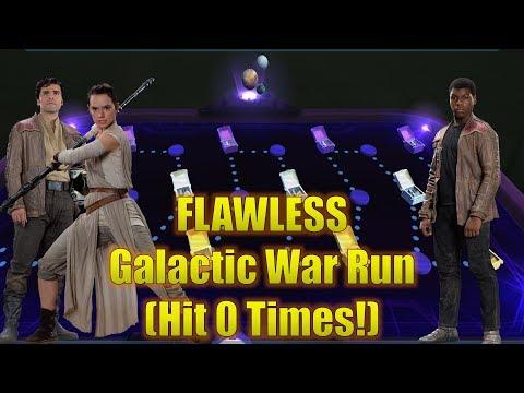 Star Wars Galaxy of Heroes: FLAWLESS Galactic War Run (No Hits Taken)
