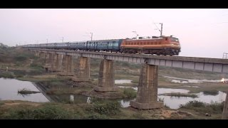 Fierce Kerala Express Rushes Into Sunset - In the background Sun also Sets over a Human Life !!!