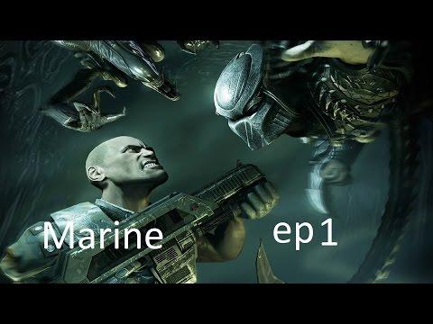 Aliens vs Predator episode 1 marine [First Contact]