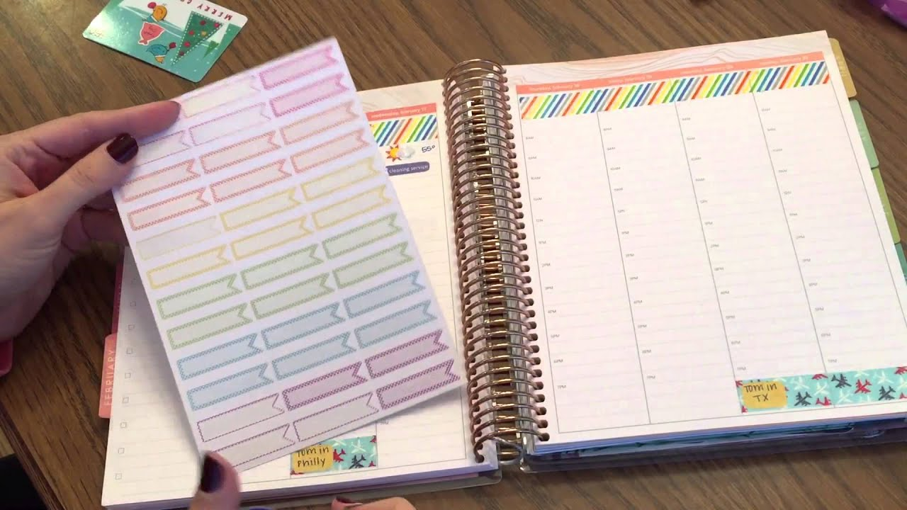 graphic relating to Erin Condron identify Planner Set up inside my Erin Condren Hourly Existence Planner - 7 days of 2.15.16
