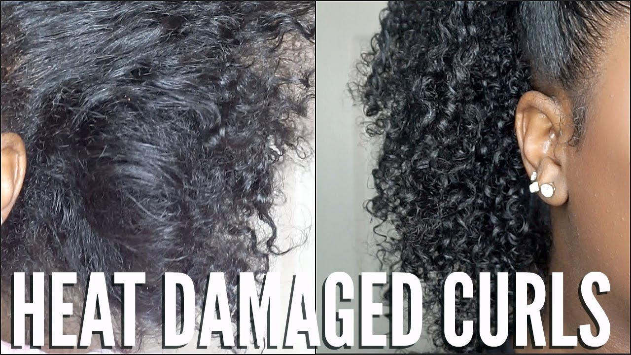 how to style damaged curly hair heat damaged hair simple curl routine 3674