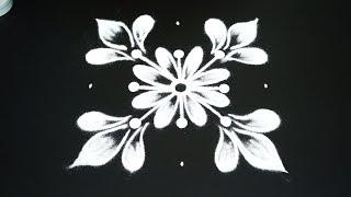 Simple 5 dot flower kolam for beginners   easy rangoli for navratri   latest muggulu 2018