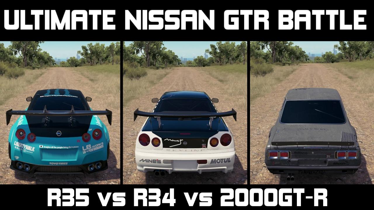 Forza Horizon 3 ULTIMATE NISSAN GTR BATTLE R35 vs R34
