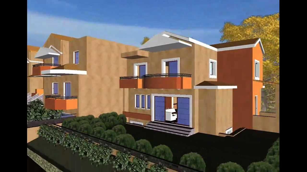 Visita virtual del edificio 3d en video con el programa de for Programas de arquitectura 3d