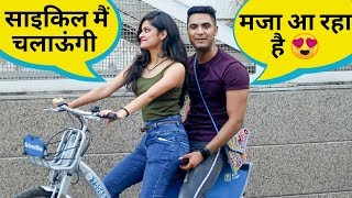 Picking up girls on cycle || Paras thakral