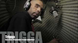 Trigga Gaza Video (Drama) Bare Back Raw Explicit Freestyle (Playmaker Sound dub plate)