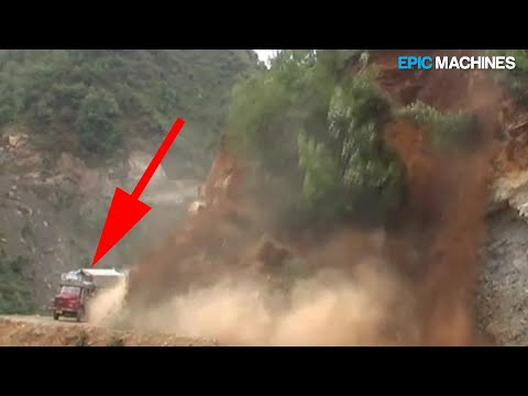 Compiling Videos Of Dangerous Landslides On Mountain Roads - The Most Dangerous Roads
