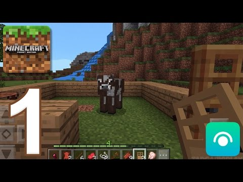 Minecraft: Pocket Edition - Gameplay Walkthrough Part 1 (iOS