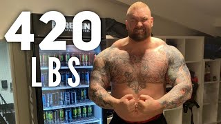 THE MOUNTAIN FROM GAME OF THRONES TRAINS UPPER BODY!!