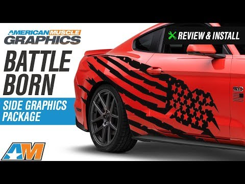 2005-2018 Mustang American Muscle Graphics Battle Born Side Graphics Package Review & Install