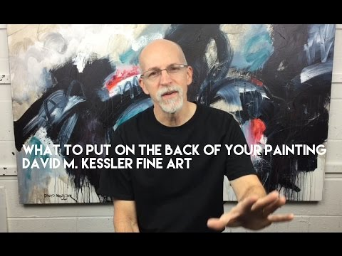 What to Put on the Back of Your Painting
