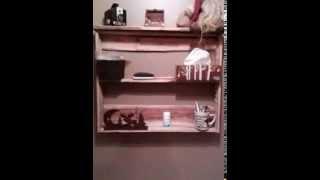 Man Bathroom Pallet Shelf
