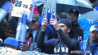 Yankee Fans Brave Storm For Team - New York Post