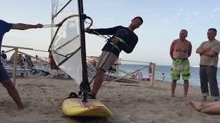 Как правильно идти на ветер в виндсерфинге видео 2