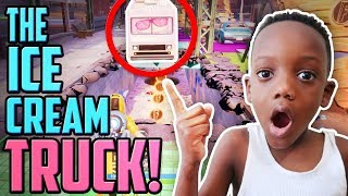 I Found The SECRET ICE CREAM TRUCK In FORTNITE DOWNTOWN DROP!