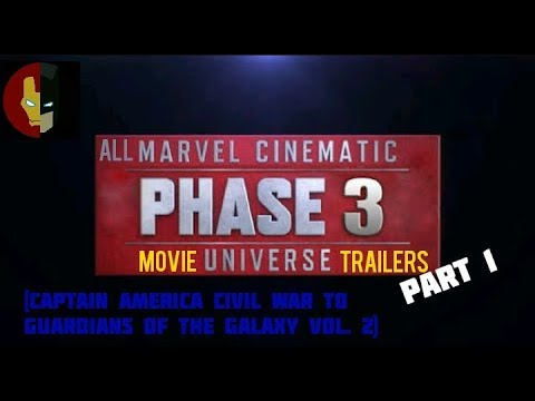 All MCU Phase 3 Trailers Part 1 (Civil War to Guardians vol. 2)