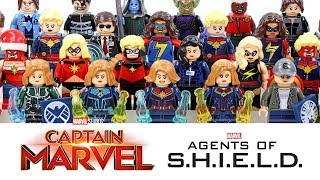 LEGO Captain Marvel & Agents of SHIELD Carol Danvers Starforce Kree Nick Fury Unofficial Minifigures