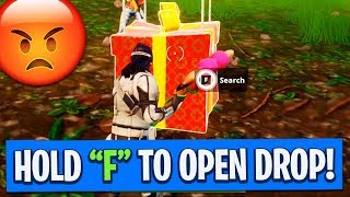 STUCK SUPPLY DROP GLITCH! **won't open** (Fortnite: Battle Royale EPIC Fails and Funny Moments)