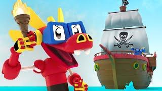 Animal Mechanicals | EP 6: Das Piratenschiff | Cartoons für Kinder | WildBrain