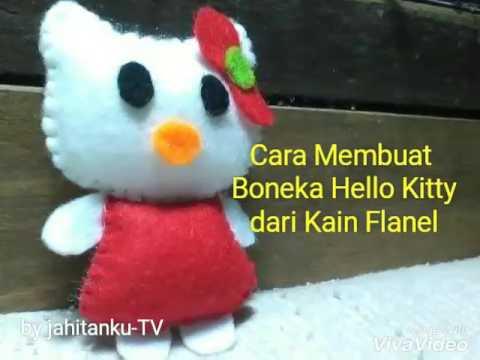 Cara Buat Boneka Hello Kitty Dari Kain Flanel