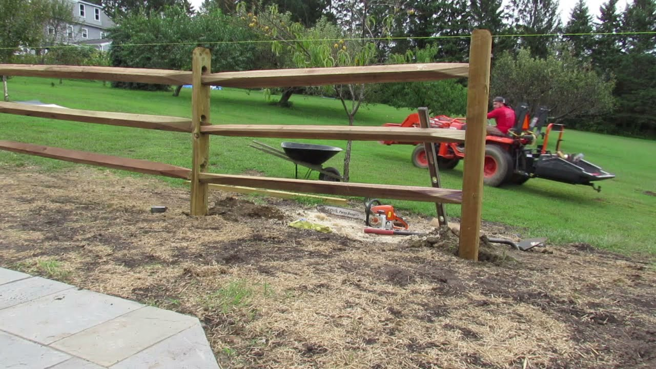 How To Install A 3 Split Rail Fence