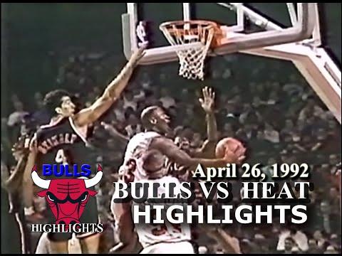Apr 26, 1992 Bulls vs Heat game 2 highlights