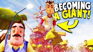 TURNING OURSELVES INTO A GIANT IN HELLO NEIGHBOR BETA 3! | Hello Neighbor Beta 3 Gameplay