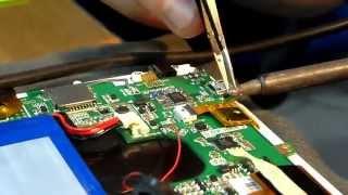 Ремонт планшета Prestigio PMP7280C ( Замена разъёма питания )(, 2014-03-27T20:55:10.000Z)