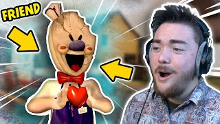 Becoming BEST FRIENDS With THE ICE CREAM MAN!!! (Friend Glitch) | Ice Scream Mobile Horror Game