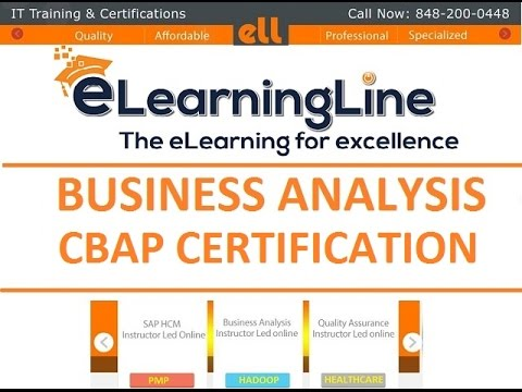 Business Analyst Training -  Analysis Techniques by elearningline @848-200-0448