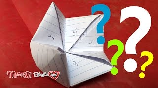 Come fare un origami indovino o parlante
