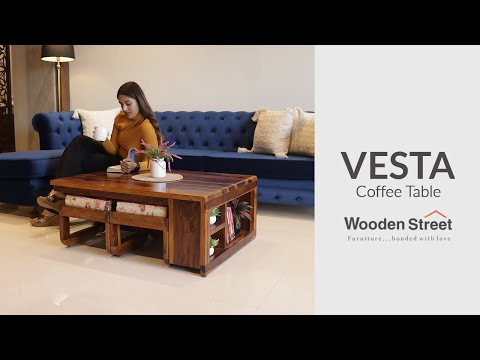 Wooden Center Table Design | Vesta Coffee Table | Wooden Street