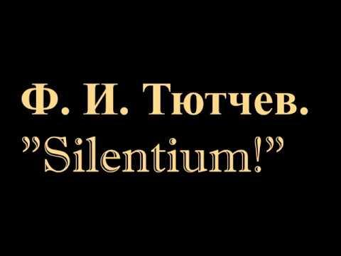 Изображение предпросмотра прочтения – ВладимирДемидов читает произведение «Silentium» Ф.И.Тютчева