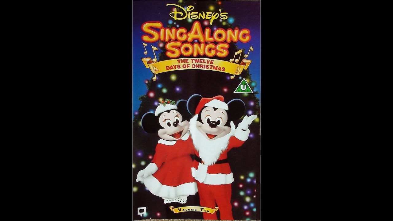 digitized opening to disneys sing along songs the twelve days of christmas vol ten vhs uk youtube