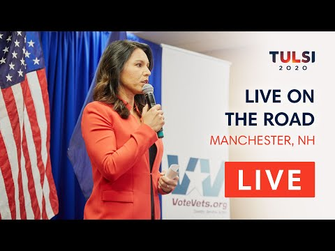 Tulsi Gabbard LIVE On The Road - Vote Vets Candidate Forum - Manchester, NH
