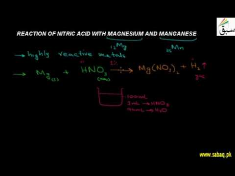 Reaction Of Nitric Acid With Mg And Mn