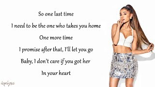 ariana grande one last time lyrics